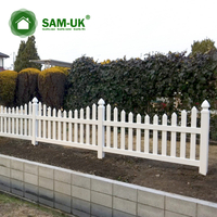 4' x 8' modern scalloped vinyl picket fence