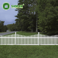 4' x 8' scalloped vinyl picket fence veranda