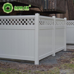 5' x 8' veranda vinyl privacy fencing with top lattice