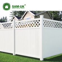 6' x 8' vinyl privacy fence with top lattice garden zone