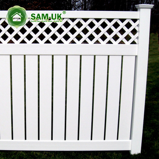 6' X 8' Modern Semi Private Vinyl Fence with Lattice Top