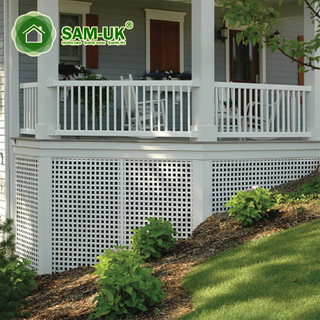 4' X 8' Easy Install Vinyl Square Lattice Fence