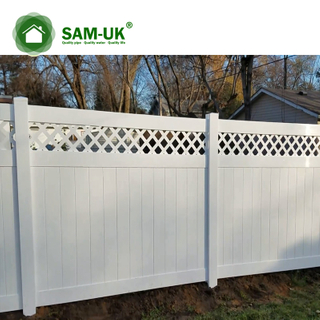 5' x 8' vinyl private fence with top lattice for outdoor backyard