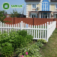 4' x 8' scalloped vinyl picket fence garden
