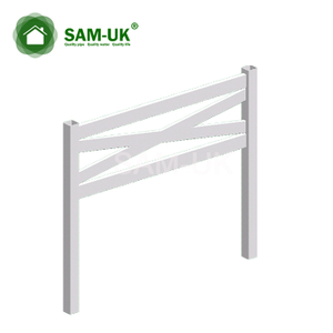 16 ft crossbuck vinyl horse fencing cost effective