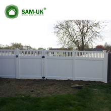 5' x 8' vinyl privacy fence tongue and groove on a slope hill