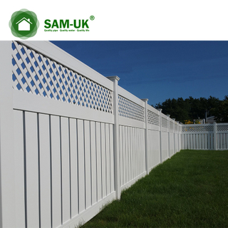 6 x 8 semi private vinyl fencing with lattice top backyard