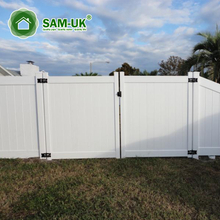 4' x 8' vinyl private fence double gate for outdoor backyard