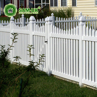 4 ft scalloped vinyl picket fence vegetable garden