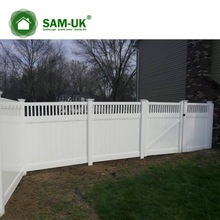 6' x 8' veranda vinyl privacy fencing tongue and groove