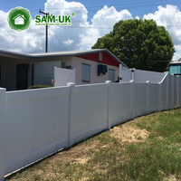 6' x 8' vinyl privacy fencing double gate for backyard