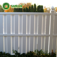 6' x 8' easy install vinyl semi-privacy shadowbox fence