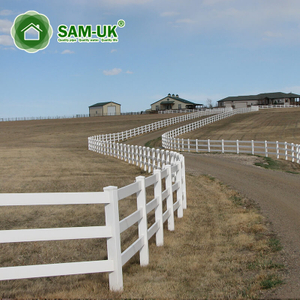 16 ft 3 rail vinyl horse fencing cost effective