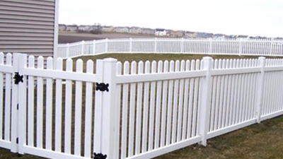 Elegant Garden Closed-Top White Plastic PVC Vinyl Privacy Fence
