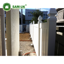 white color Semi-privacy PVC/Vinyl plastic fence