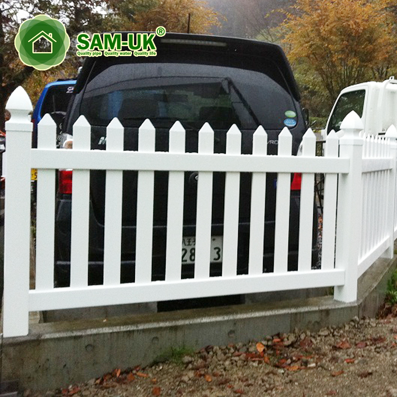 Outdoor Strong Uv Protection Plastic Pvc Picket Fence