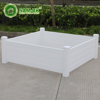 White Rectangle Plastic Vinyl Planter Box