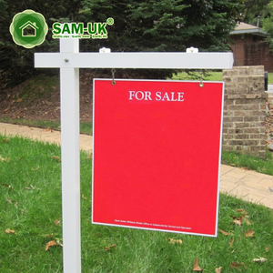 White Garden Hanging Vinyl Sign Post