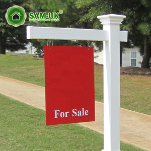 White Square Directional Vinyl Sign Post